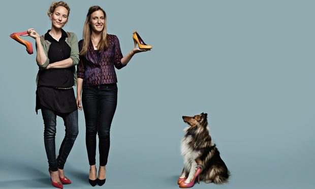 Man's best friend: Beyond Skin's Natalie Dean and Heather Whittle. Photograph: Alex Lake for the Observer Alex Lake/Observer