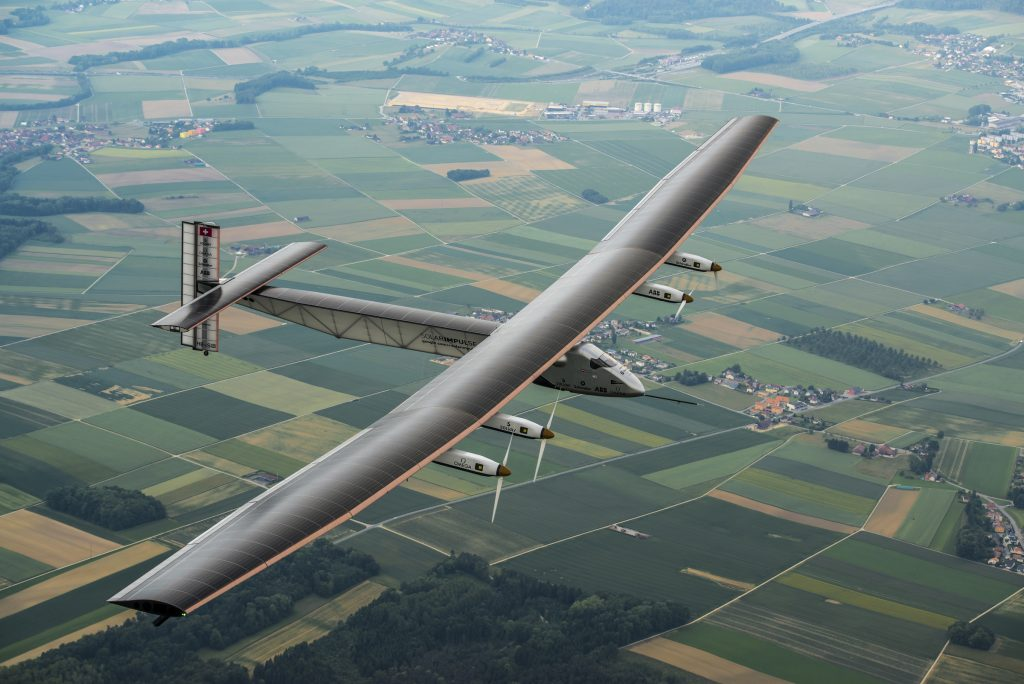 Payerne, Switzerland: Today,Solar Impulse 2, the second single-seater solar aircraft of Bertrand Piccard and André Borschberg designed to take up the challenge of the first round-the-world solar flight, without any fuel in 2015, carried out its first flight out of the Payerne aerodrome in Switzerland. There will be several other test flights taking place in the coming months in order for this experimental machine to attain certification. They will be followed by training flights of Bertrand Piccard and André Borschberg later in the season still from Payerne airfield. The attempt to make the first round-the-world solar-powered flight is scheduled to start in March 2015 from Gulf area. Solar Impulse will fly, in order, over the Arabian Sea, India, Burma, China, the Pacific Ocean, the United States, the Atlantic Ocean and Southern Europe or North Africa before closing the loop by returning to the departure point. Landings will be made every few days to change pilots and organize public events for governments, schools and universities.
